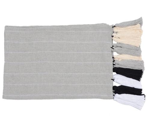 Manta para Sofá com Tassel Mangue - Cinza e Branca, Cinza | WestwingNow
