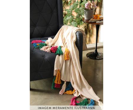 Manta para Sofá com Tassel Alexandra Colorida | WestwingNow