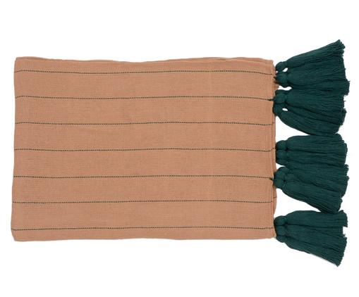 Manta para Sofá com Tassel - Bege e Verde Musgo, Marrom | WestwingNow