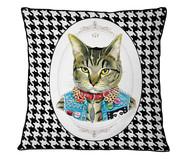 Capa de Almofada em Veludo com Vivo Gato | WestwingNow