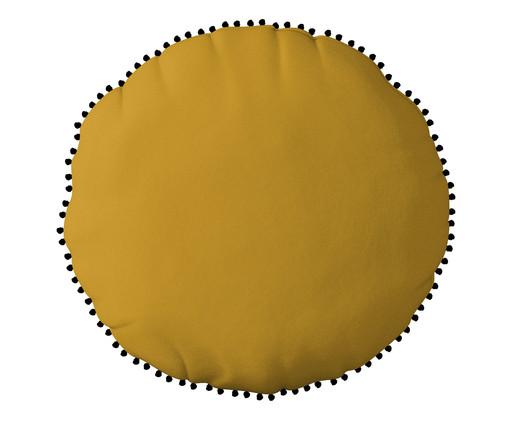 Almofada Redonda em Veludo com Griló Davi Amarelo - 40cm, Amarelo | WestwingNow