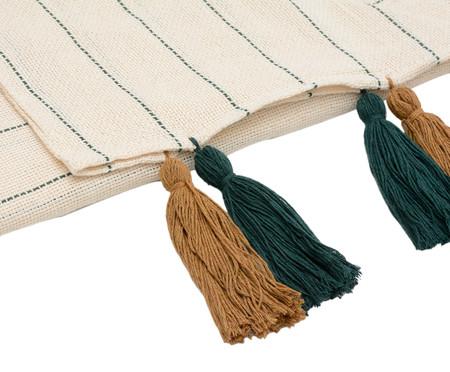 Manta para Sofá com Tassel Brasilis - Caramelo e Verde Musgo | WestwingNow