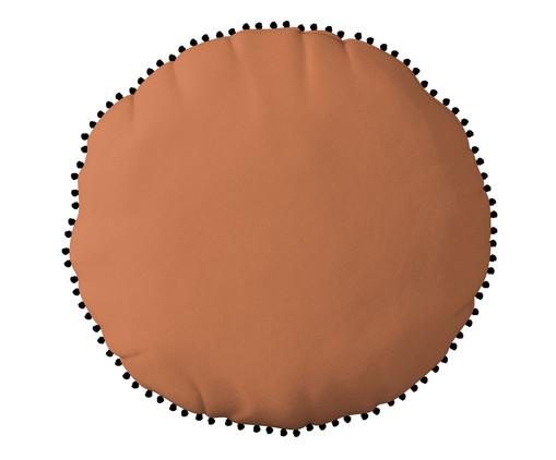 Almofada Redonda em Veludo com Griló Davi Laranja - 40cm, Verde | WestwingNow