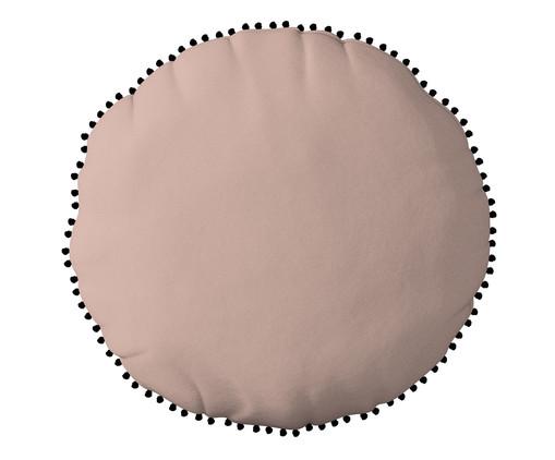 Almofada Redonda em Veludo com Griló Davi Rosa - 40cm, Amarelo | WestwingNow