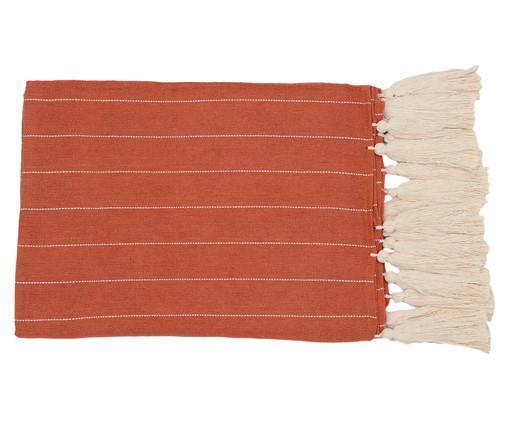 Manta para Sofá com Tassel Terra - Bege e Telha, Marrom | WestwingNow