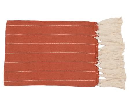 Manta para Sofá com Tassel Terra - Bege e Telha | WestwingNow