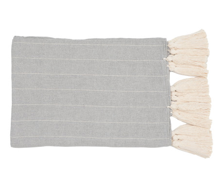 Manta para Sofá com Tassel Argila - Bege e Cinza | WestwingNow