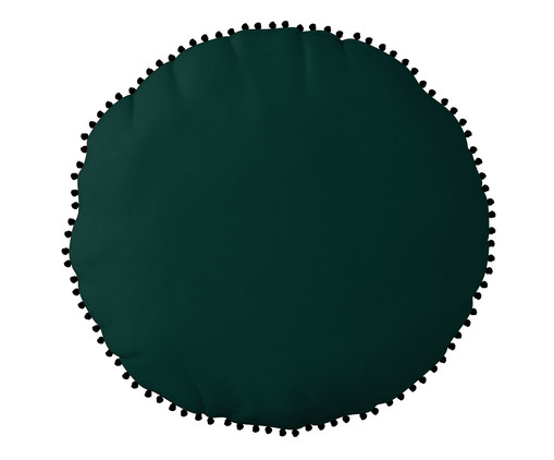 Almofada Redonda em Veludo com Griló Davi l Verde - 40cm, verde   WestwingNow