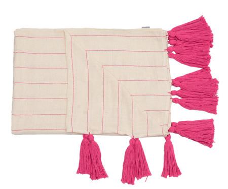 Manta para Sofá com Tassel Pop - Bege e Pink | WestwingNow
