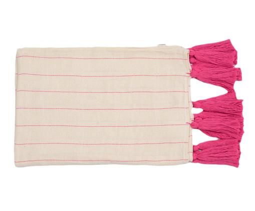 Manta para Sofá com Tassel Pop - Bege e Pink, Rosa | WestwingNow
