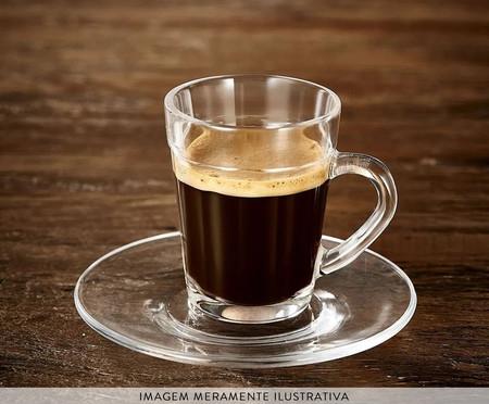 Jogo de Xícaras para Café Espresso em Vidro Suécia - Transparente   WestwingNow