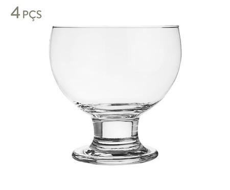Jogo de Taças para Sobremesa em Vidro Polônia - Transparente | WestwingNow
