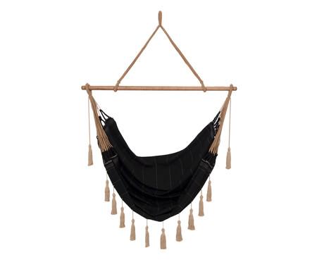 Cadeira de Balanço com Tassel Duna - Preta | WestwingNow