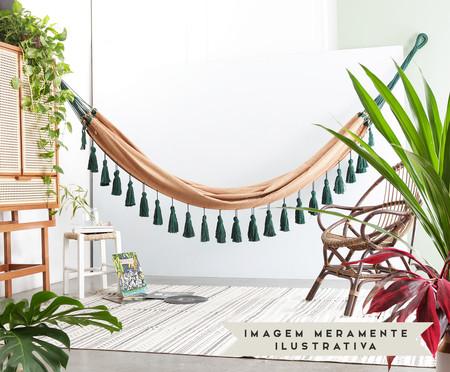 Rede com Tassel Jerí - Caramelo e Verde | WestwingNow