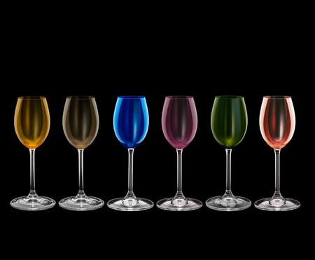 Jogo de Taças para Licor em Cristal Falcons - Colorido   WestwingNow