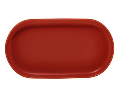 Travessa em Porcelana Oval Bears - Vermelho | WestwingNow