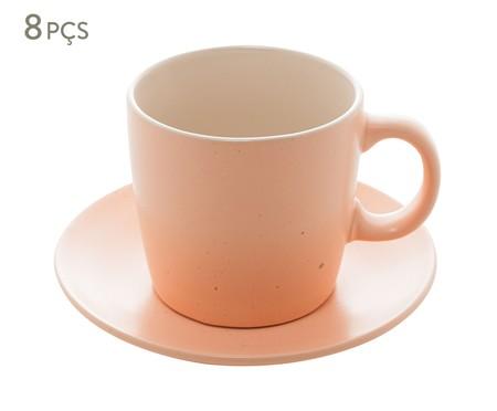 Jogo de Xícara para Chá em Cerâmica Giulietta - Salmão | WestwingNow