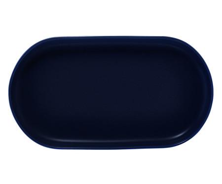 Travessa em Porcelana Oval Bears - Azul Escuro | WestwingNow