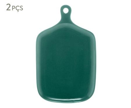 Jogo de Travessas em Porcelana Bears - Verde Escuro | WestwingNow