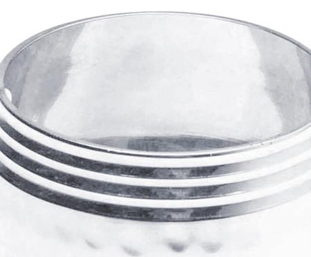 Jogo de Anéis para Guardanapo em Aço Inox Larissa - Prata | WestwingNow
