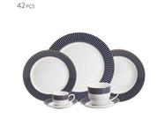 Jogo de Jantar em Porcelana Cobalto - 06 Pessoas | WestwingNow