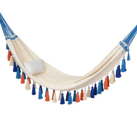 Rede com Tassel Jerí - Azul e Laranja | WestwingNow