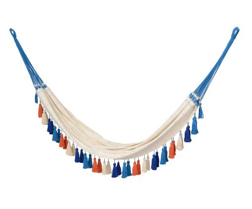 Rede com Tassel Jerí - Azul e Laranja, Bege | WestwingNow