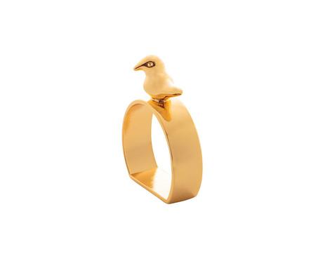 Jogo de Anéis para Guardanapo em Zinco Bird - Dourado | WestwingNow
