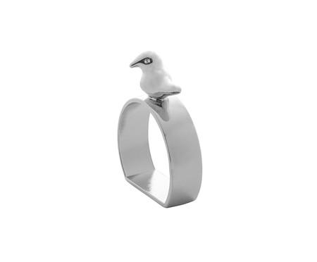 Jogo de Anéis para Guardanapo em Zinco Bird - Prata | WestwingNow