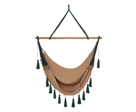 Cadeira de Balanço com Tassel Brasílis - Mascavo | WestwingNow