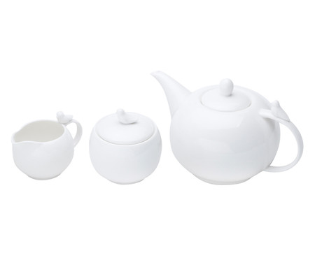 Jogo para Servir Café em Porcelana Birds - Branco   WestwingNow