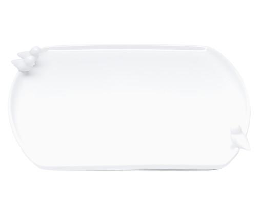 Prato para Pão em Porcelana Birds - Branco, Branco   WestwingNow