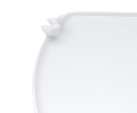 Prato para Pão em Porcelana Birds - Branco | WestwingNow