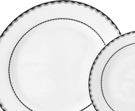 Jogo de Jantar em Porcelana Alto Relevo - 06 Pessoas   WestwingNow