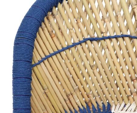 Poltrona Agra - Azul e Natural | WestwingNow
