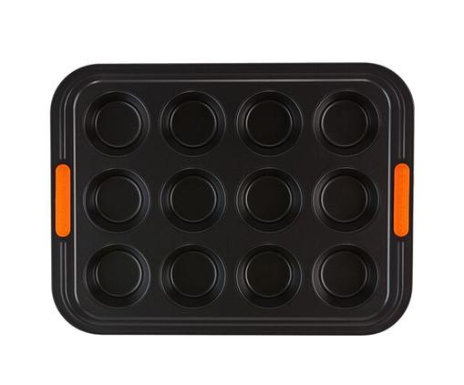 Forma Para Muffin 12 Moldes -  Matte Black, Preto   WestwingNow