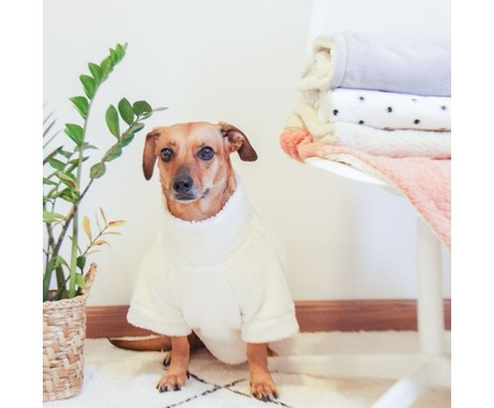 Roupa Pelúcia para Pet Gola - Creme | WestwingNow