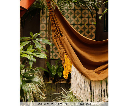 Poltrona Suspensa com Tassel Tri Tribo - Areia | WestwingNow