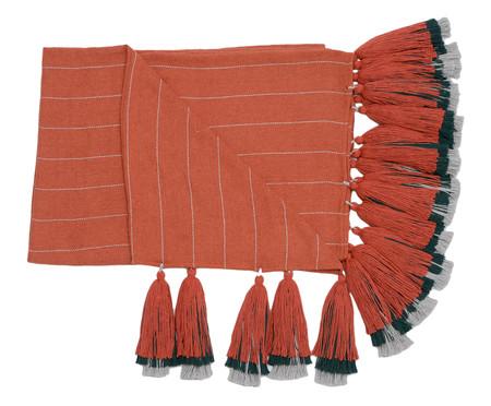 Manta para Sofá com Tassel Etnica - Telha e Cinza | WestwingNow