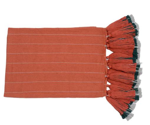 Manta para Sofá com Tassel Etnica - Telha e Cinza, Marrom | WestwingNow