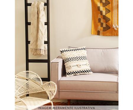 Manta Bombaim - Preto e Natural | WestwingNow