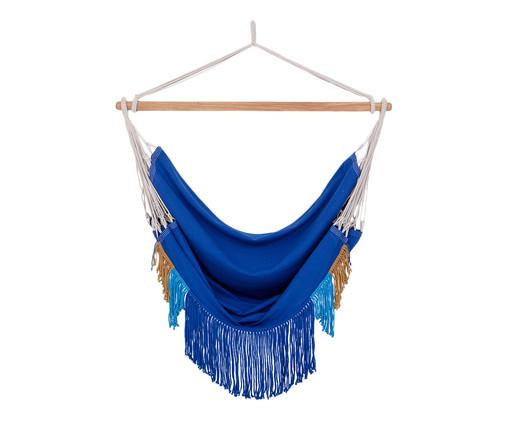 Poltrona Suspensa com Franjas Assimétricas - Azul Royal, Azul | WestwingNow