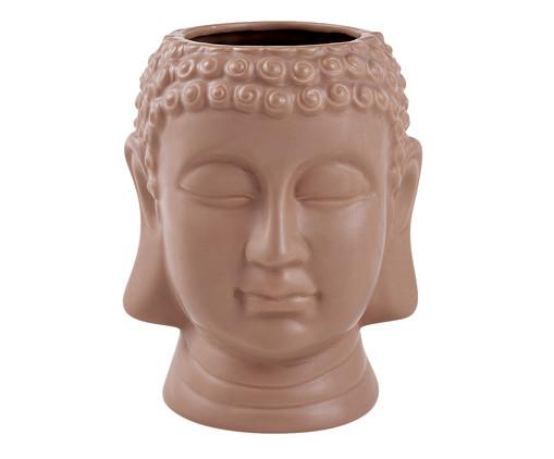 Vaso em Cerâmica Buda Dom - Marrom, Marrom | WestwingNow