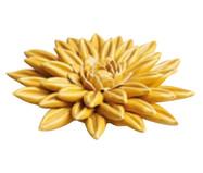 Adorno em Cerâmica Flor Gayle - Amarelo | WestwingNow