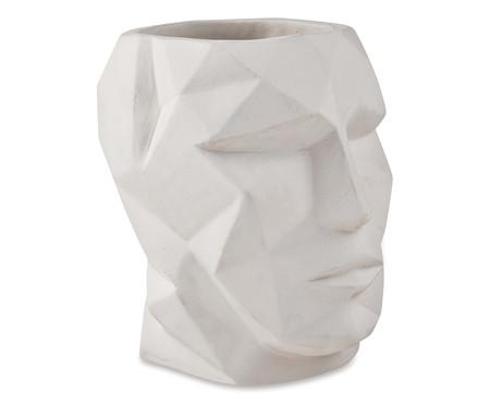 Vaso em Cimento Face Bob - Branco | WestwingNow