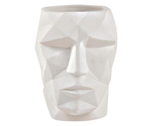 Vaso em Cimento Face Bob - Branco, Branco | WestwingNow