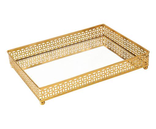 Bandeja Decorativa Espelhada Jami ll - Dourada, Dourado | WestwingNow