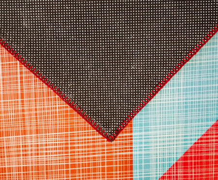 Tapete Geo Print - Vermelho e Cinza | WestwingNow