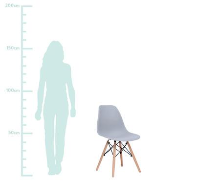 Jogo de Cadeira Eames - Cinza Concreto   WestwingNow