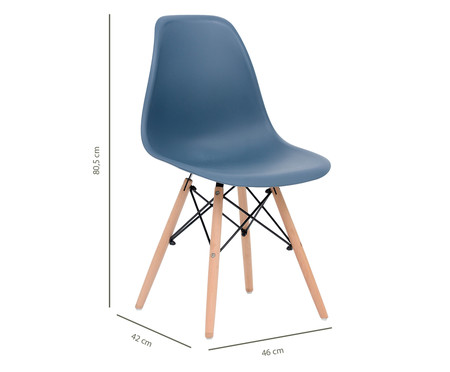 Jogo de Cadeira Eames - Chumbo   WestwingNow